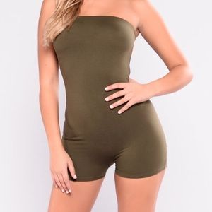 Green tight romper